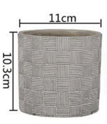 Plantas Suculentas vaso de cimento 3d molde