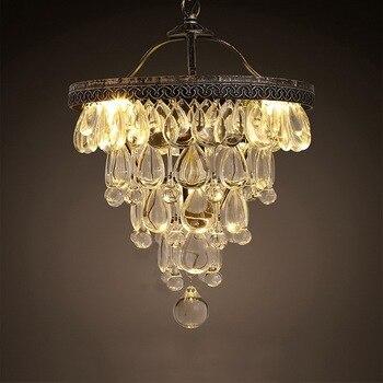 Style américain luxe cristal salle à manger pendentif lumière cristal raisins salon lumière rétro café décoration lampe livraison gratuite