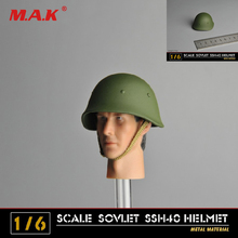 1  6th Figura Cappello della SECONDA GUERRA MONDIALE Sovietico SSH40 Casco  Modello In Metallo Regalo d41c94ccf72c