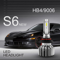 HB4/9006 2PCS LED Headlight Bulbs Conversion Kit,DOT Approved,SEALIGHT S6 series Super Bright 12xCSP chips Low Beam 6000K White