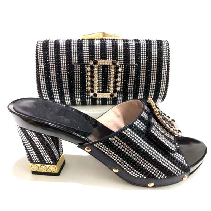 High Quality Italian shoes And Bags To Match Women wedding / party shoes and bag set For ladies
