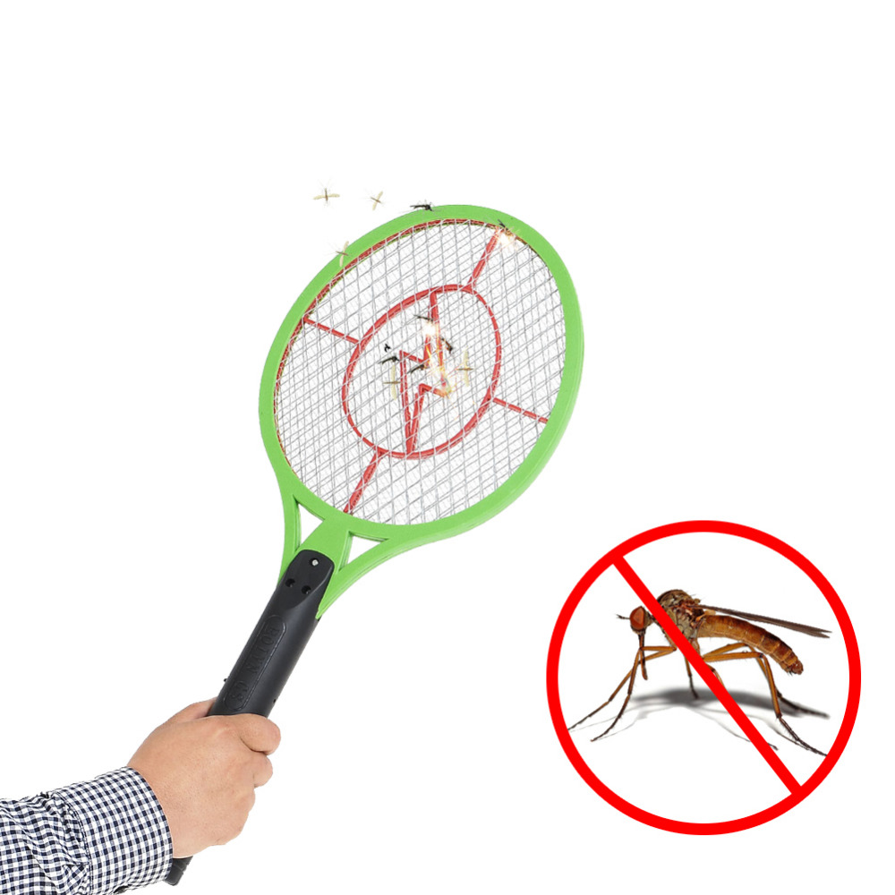 Rechargeable Electric Insect Bug Bat Wasp Mosquito Fly Zapper Swatter Racket Anti mosquito killer Pest Control Random Color