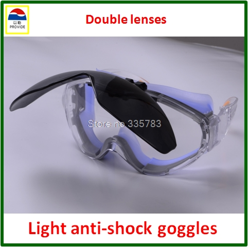 PROVIDE safety goggles Double lenses Anti-glare protection glasses Impact resistance High quality laser glasses sperian 110110 s600a streamlined anti impact safety glasses working glasses c100505