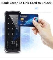 Интеллектуальный цифровой замок карт ic и pin пароль для разблокировки для безрамные стеклянные двери Легкая установка стеклянные двери замо