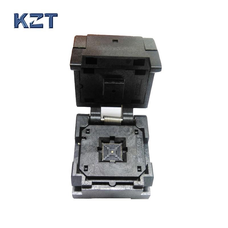 QFN48 0.4pin pitch IC Test Socket /Programmer Adapter / Burn-in Socket QFN48-0.4 fshh qfn32 to dip32 programmer adapter wson32 udfn32 mlf32 ic test socket size 3 2mmx13 2mm pin pitch 1 27mm