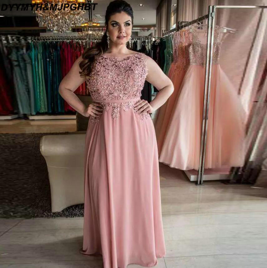 Plus Size Blush Pink Mother Of The Bridal Dresses Scoop