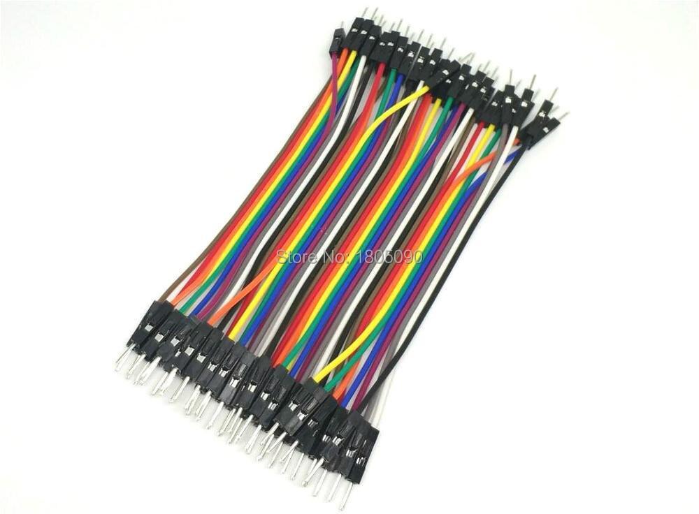 40 шт./лот 10 см 40P 2,54 мм кабель dupont перемычка провода dupont линия папа-папа dupont линия Бесплатная доставка
