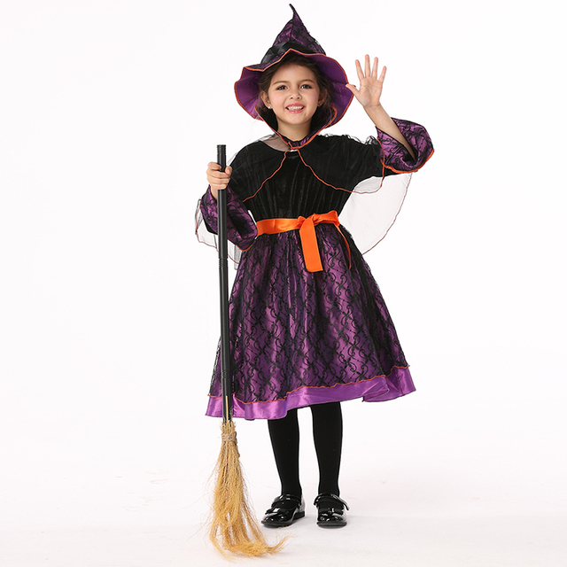 Children Halloween Costumes Kids Baby Girl Witch Cosplay Costume ...