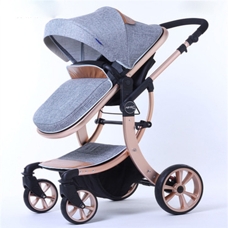 все цены на 2018 new autumn and winter baby stroller high landscape four seasons folding shock absorbers can sit lie BB trolley