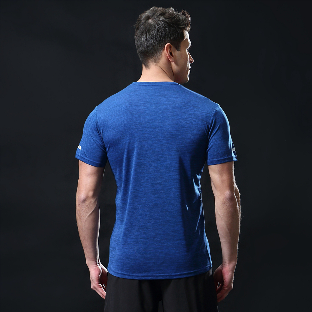 GANYANR Running T Shirt Men Basketball Tennis Sportswear Tee Sport Fitness Gym Jogging Tops Slim Fit quick dry Exercise Training 26