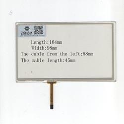 HLD-TP-1166 ZhiYuSun Atacado 164mm * 98mm NOVO 7 linhas de 4 polegadas Para Carro DVD painel touchscreen 164*98 Sensor de vidro este é compatível
