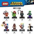 8 unids/lote Comando Suicida Joker Harley quinn Dos Cara Espantapájaros Lepin Starfire DC Batman juguetes de Bloques para Niños Compatibles