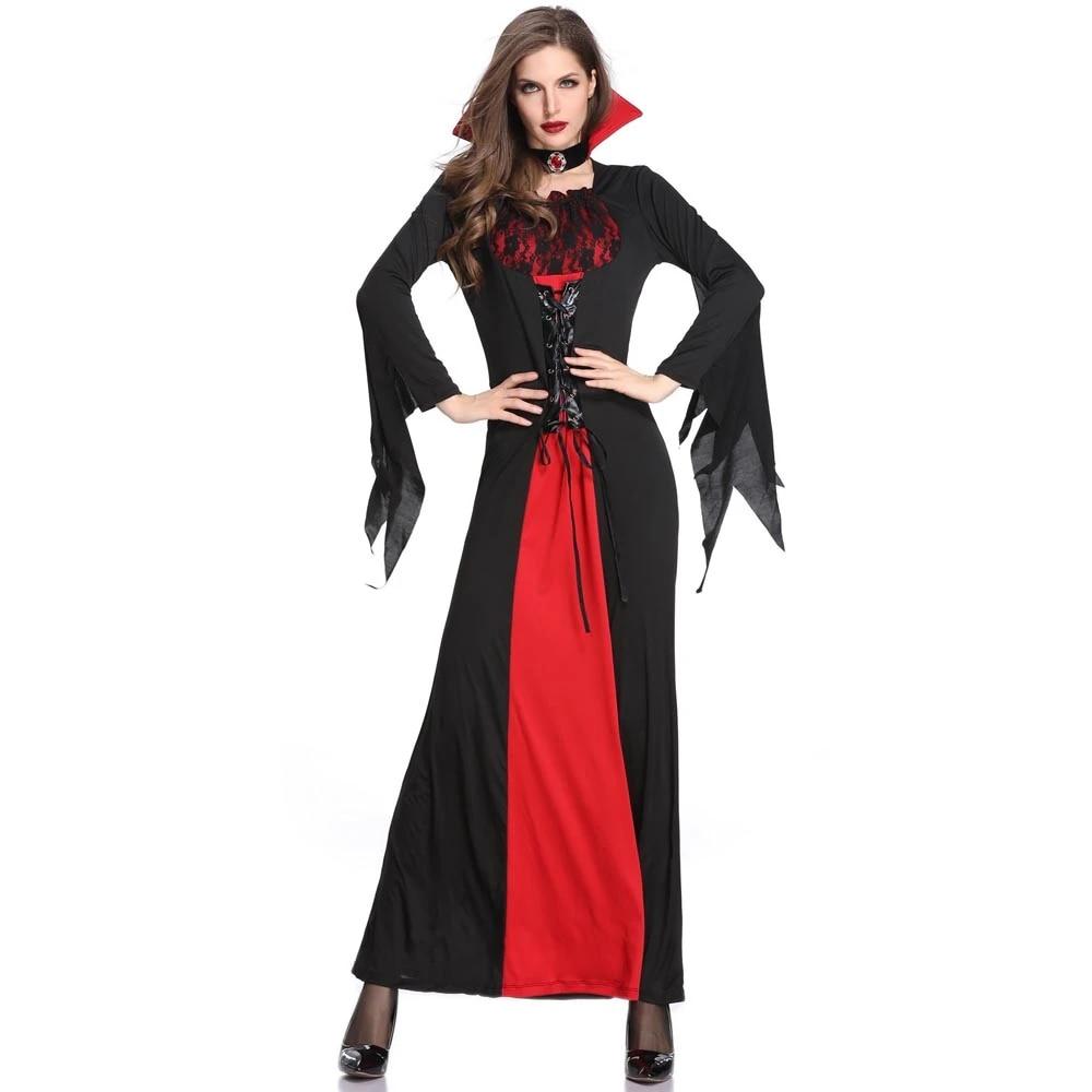 Sexy Vampire Halloween Noble Queen Vampire Costume Women Vampire Costume  Halloween Adult Party Cosplay Clothing Movie & TV costumes  - AliExpress
