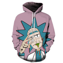 3D Print Anime Rick and Morty Doctor Sweatshirt Hoodie Cosplay Costume New