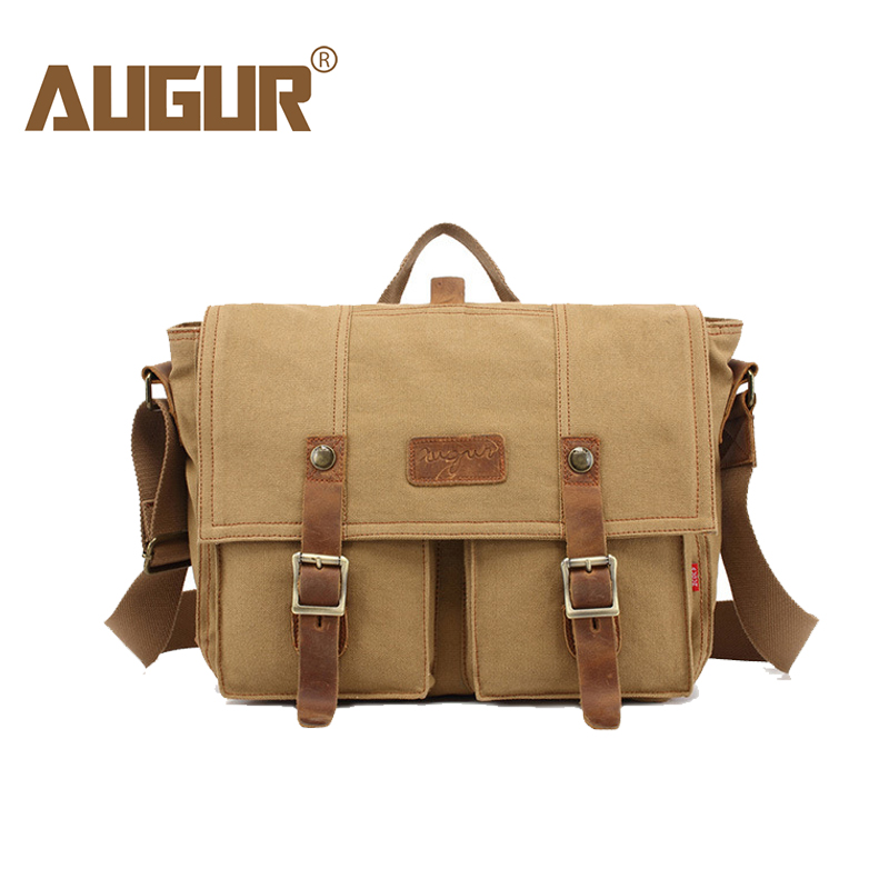 AUGUR Fashion Men's Shoulder Bags Male Casual Canvas Handbag Larger Capacity Travel Crossbody Bag For Men Business Messenger Bag augur 2017 canvas leather crossbody bag men military army vintage messenger bags shoulder bag casual travel school bags