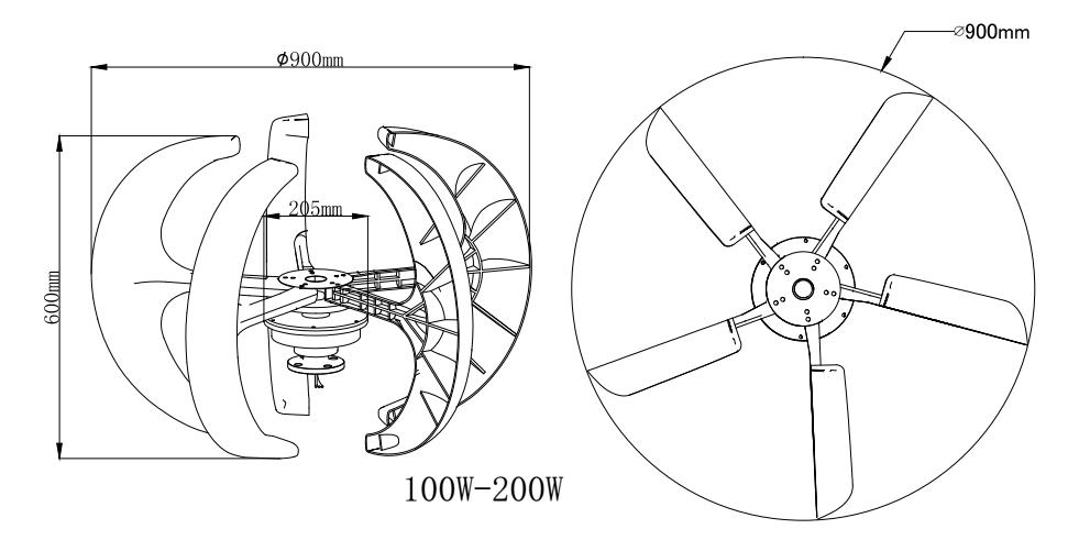 100w Vertical Axis Windmill Wind Turbine Generator Price For Home