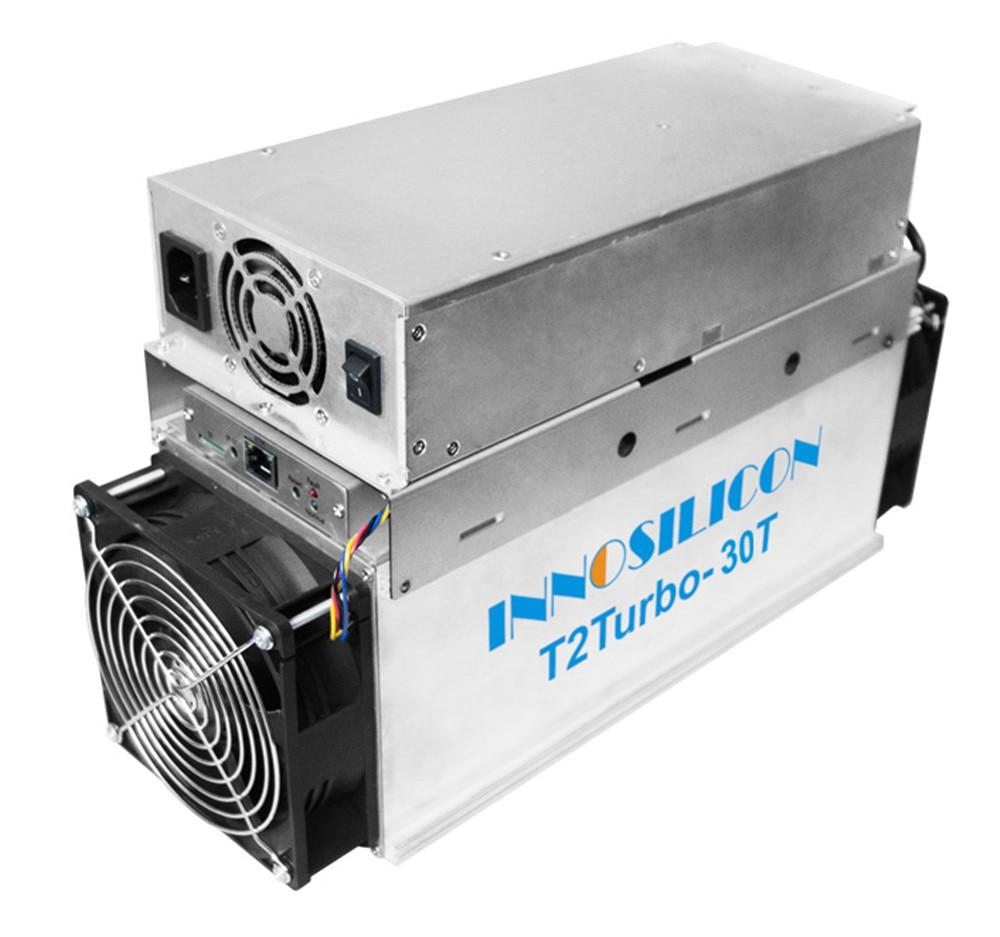 Nouveau Innosilicon T2T 30TH/s SHA256 Bitcoin BTC BCH Mineur Mieux que WhatsMiner M3 M10 Antminer S9 S11 S15 S17 T9 + T17 Z9 Z11