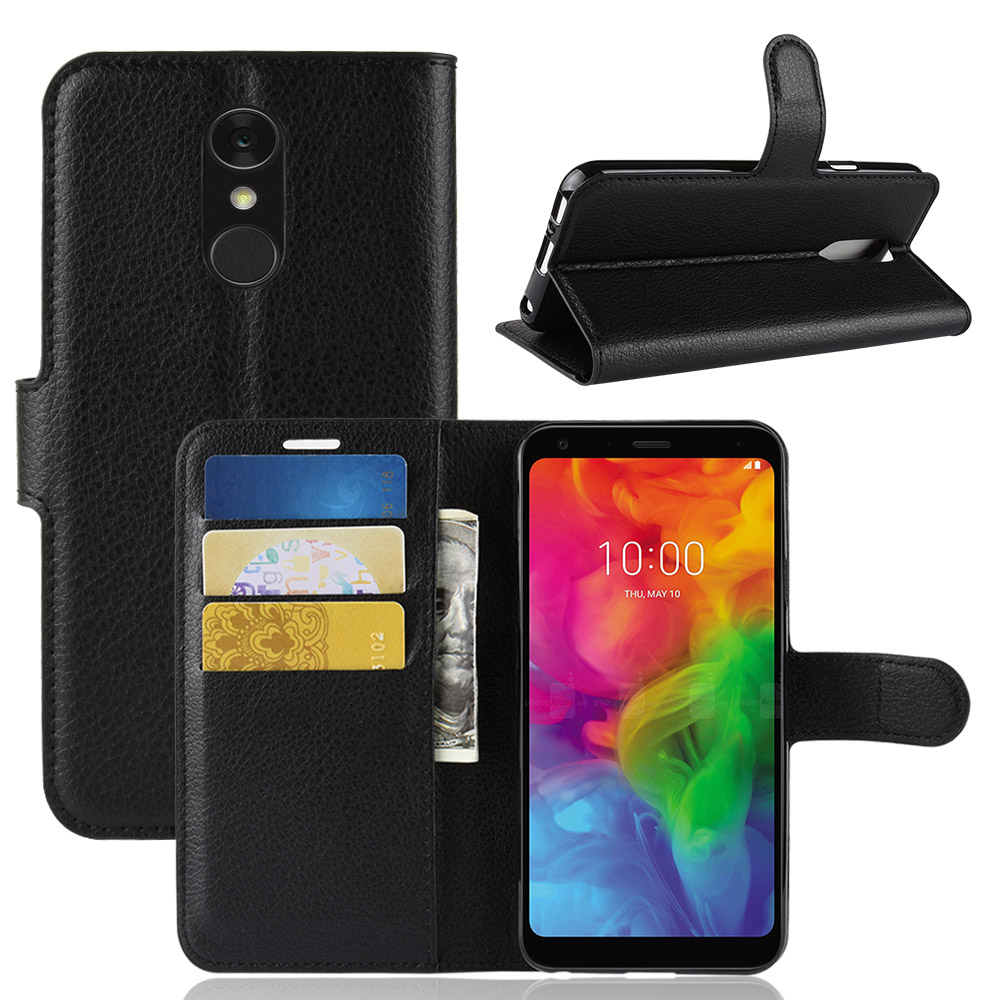 G7 ThinQ Case 6.1-inch 2018 For LG G7 Thin Q Luxury Litchi PU Leather Wallet Flip Stand Mobile Phone Cover For LG G7 ThinQ Bag