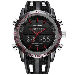 Image 3 - Marque de luxe montres hommes sport montres LED étanche numérique Quartz hommes militaire montre bracelet horloge mâle Relogio Masculino 2019