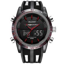 Zegarki luksusowe marki męskie zegarki sportowe wodoodporny LED cyfrowy kwarcowy mężczyźni wojskowy nadgarstek zegarek zegar męski Relogio męski 2018 tanie tanio Quartz Wristwatches 16mm Alarm wodoodporny odporny na wstrząsy stop Watch kompletny kalendarz wiele stref czasowych chronograf automatyczna Data wyświetlacz LED