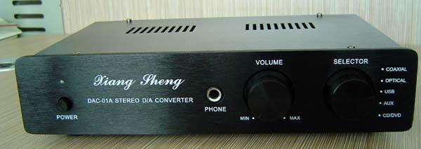 XiangSheng DAC-01A v10 USB SPDIF Tube DAC HIFI EXQUIS Coaxial Optical Decoder Windows Sound Card DAC01 mk sound v10 black