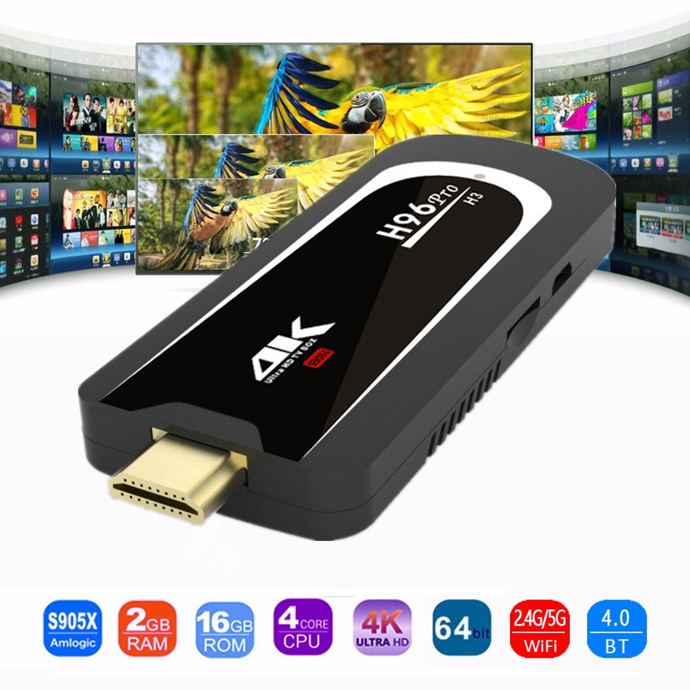 H96 Pro H3 Mini PC Amlogic S905X Quad Core Android 7.1 TV Dongle 2 GB RAM 16 GB ROM 2,4G/5.G WiFi BT 4,0 1080 P 4 Karat HD TV Stick