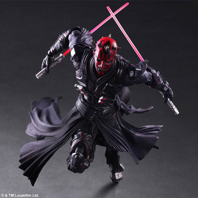 Play Arts Star Wars KAI Darth Maul The Force Awakens PA Figure Collectible Model Toy 10 26cm playarts kai star wars darth maul pvc action figure collectible model toy 28cm free shipping kb0276