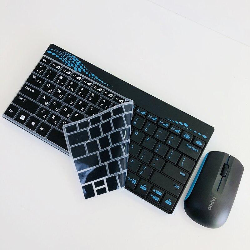 8002d64ca9d Periferia de calculator Rapoo Waterproof Noiseless 2.4G Multi-Media Mini  Wireless Keyboard and Mouse Combos with 1000DPI for PC Mac Laptops Desktops