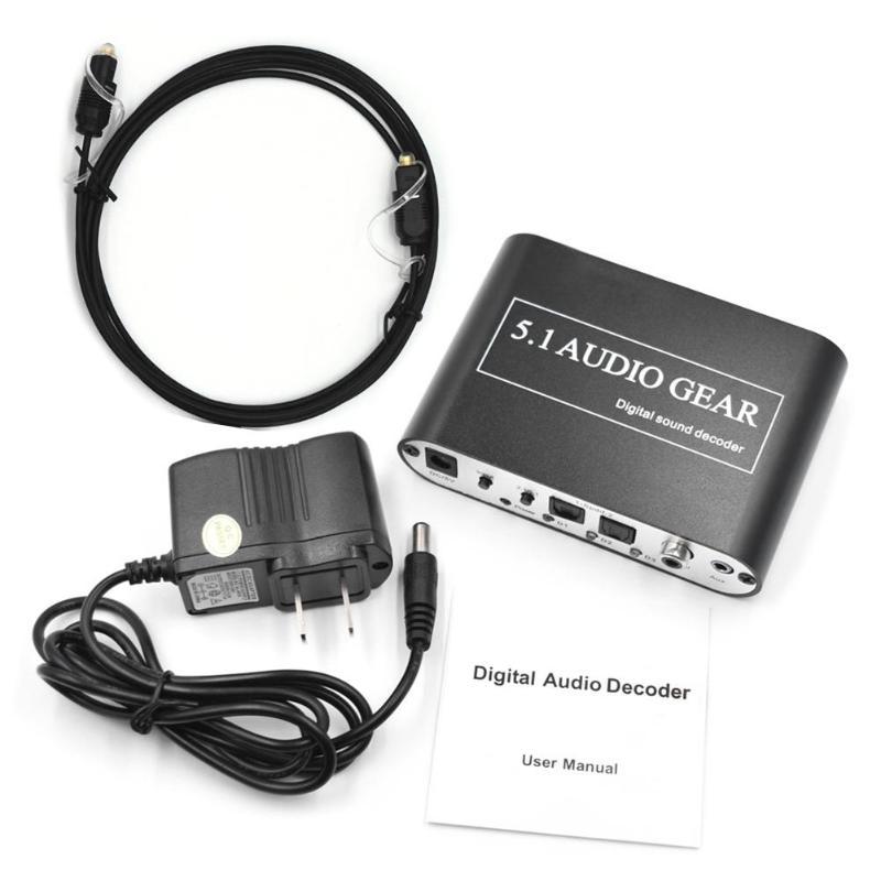 Digital Audio Decoder 5,1 Audio Getriebe DTS/AC-3/6CH Digital Audio Converter für PS2 PS3 HD Player/Blu ray DVD/XBOX360