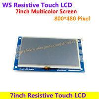 7inch Resistive Touch LCD Display Module Demo Board 800 480Pixel Multicolor Screen RA8875 Controller Embedded 10KB