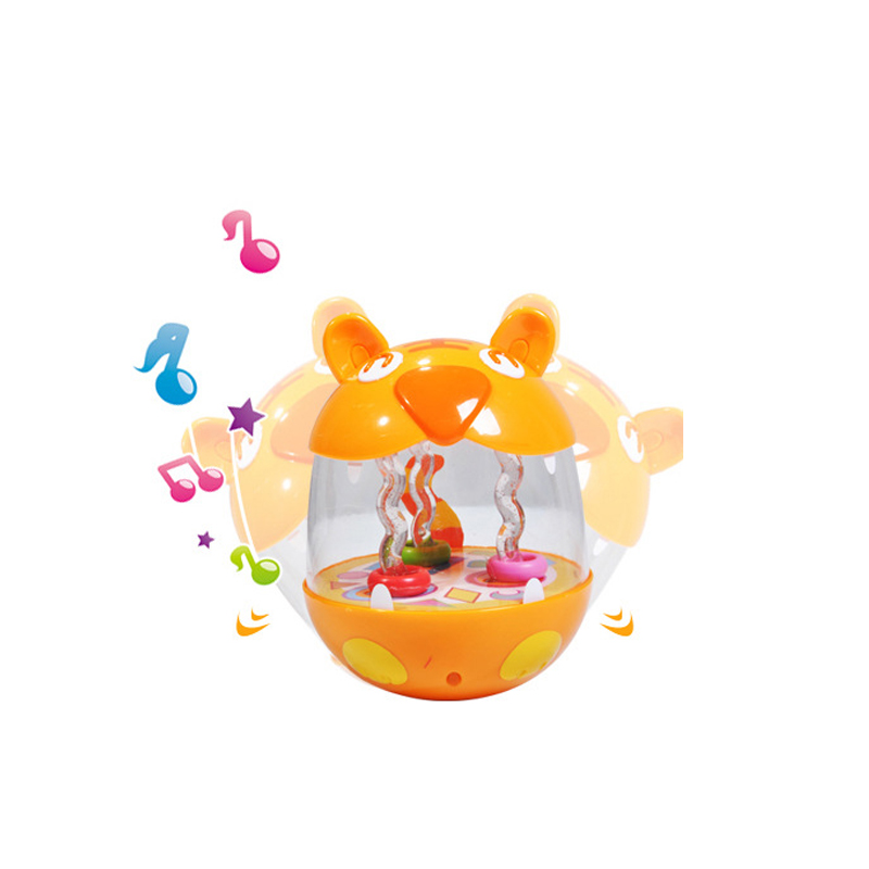 Kids Toys Happy Tumbler Bunny Baby Early Education Light Music Childrens Song Toy For Kids Girls and Boys Birthday Gift