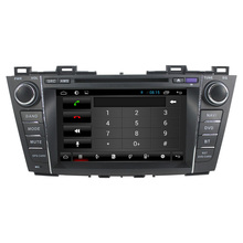 For capacitive multi-touch screen Quad core Mazda 5 2012 car dvd player GPS with WiFI+FM/AM Radio+Bluetooth+Multimedia+USB/SD+3G