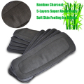 Baby Cloth Diaper Insert Super Stay Dry Baby Nappies Bamboo Charcoal Heavy Wetter Nappy Changing 1PCS