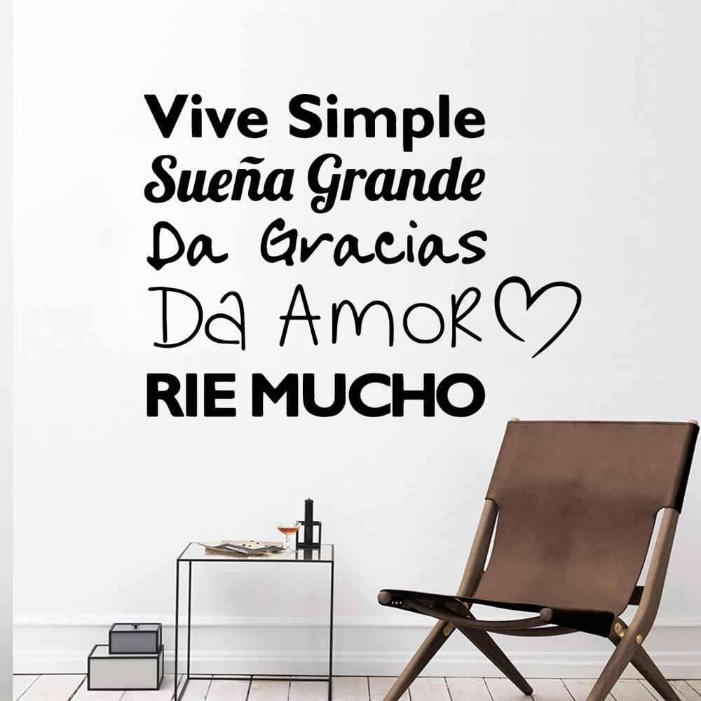Beauty spanish rie mucho quote Wall Art Decal Sticker Material For Kids Rooms Nursery Room Decor Decoration Murals