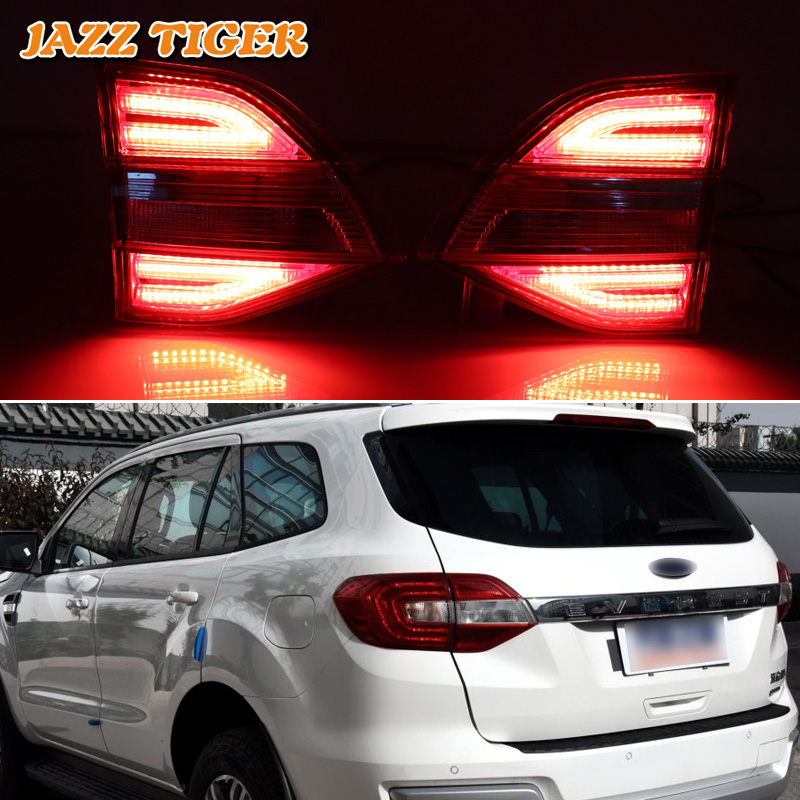 JAZZ TIGER Multi functions Car LED Tail Light Brake Light Rear Auto Bulb Decoration Lamp For Ford Everest 2016 2017 2018