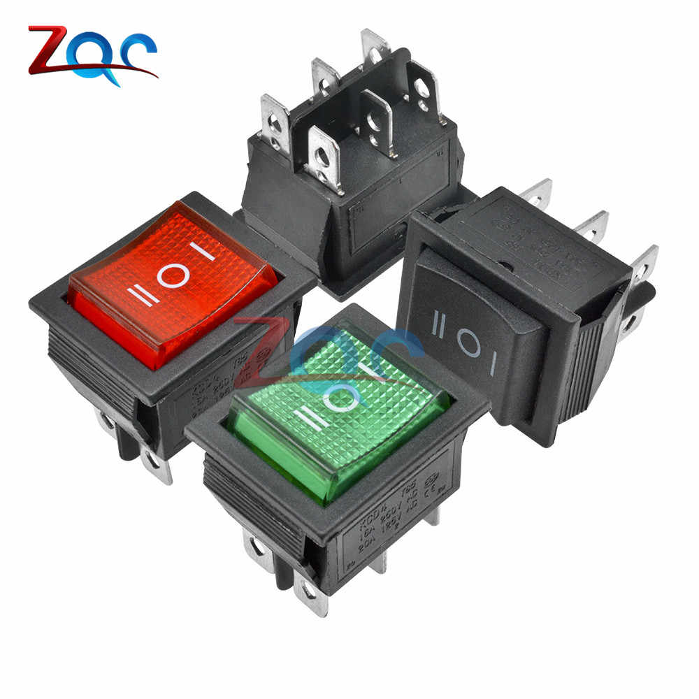 KCD4 bouton de commutation à bascule ON-OFF-ON 3 positions 6 broches équipement électrique avec interrupteur d'alimentation 16A 250VAC 250 V AC