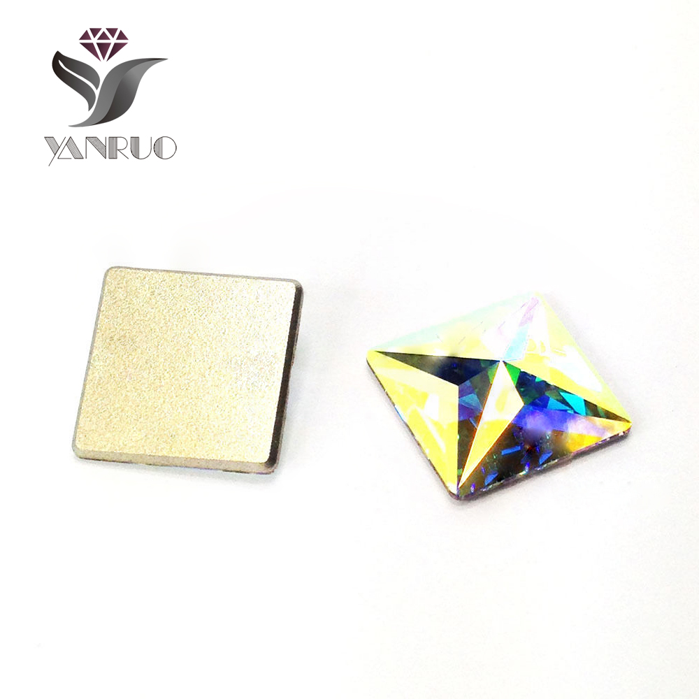 YANRUO 72 unids 6 mm Crystal AB Rainbow Diy pegar accesorios - Arte de uñas - foto 2