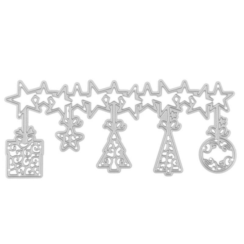 estrella de navidad weding decorar plantillas de troqueles de corte de metal para regalo de boda