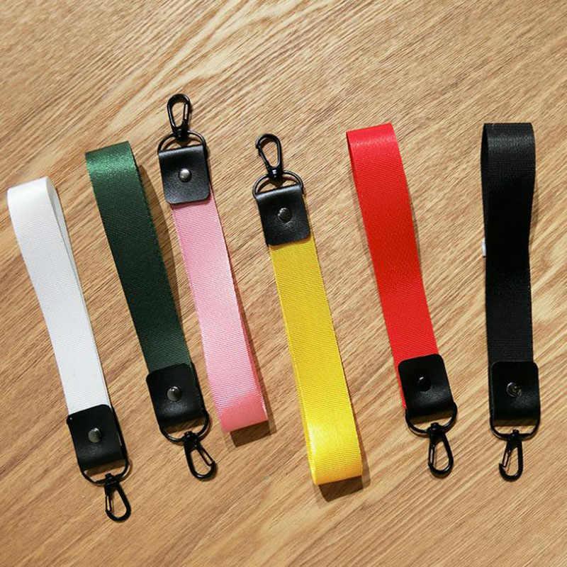 6 cores sólidas chaveiro chaveiro chaveiro chaveiro para telefone caso carteira fita para mulheres encantos saco carros chaveiro chaveiro