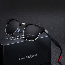 Classic Retro Rivet Polarized Sunglasses Men Women Brand Des