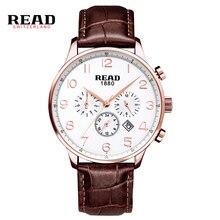 READ Watches Men Luxury Brand Multi-functional sports men's watch fashion belt watch quartz watch R6081