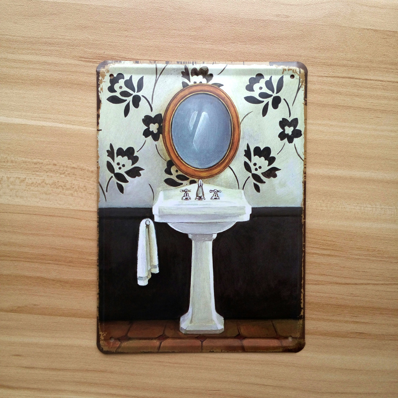 Bathroom mirror Vintage plaque poster retro decora. Online Get Cheap Mirror Bar Signs  Aliexpress com   Alibaba Group
