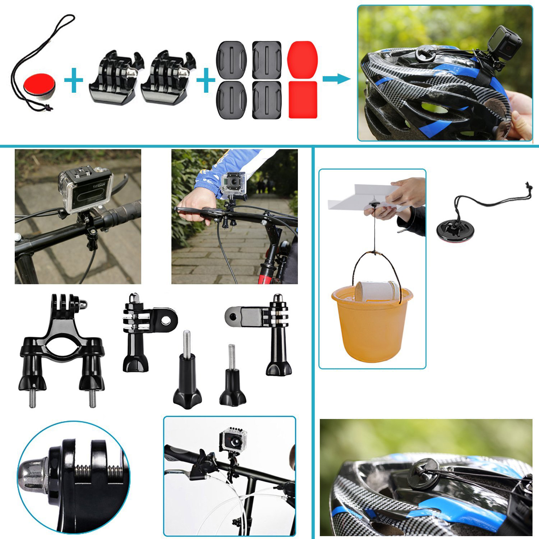 ETC-Selfie Stick Handheld Monopod Selfie Kit for GoPro Hero4 Session Hero serie Xiaomi Yi in Parachuting Running Cycling Camping