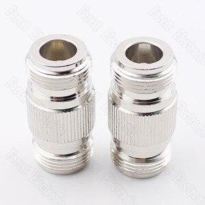 Image 1 - 10 pièces/lot N KK femelle à femelle connecteur Double passe adaptateur externe vis trou connecteur N 50KK
