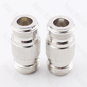 Image 1 - 10pcs/lot  N KK Female To Female Connector Double Pass Adapter External Screw Hole Connector N 50KK