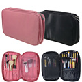Nylon Makeup Brush Organizer Travel Cosmetic Toiletry Bag Multifunction Zipper Makeup Brush Storage Pouch Bag GUB#