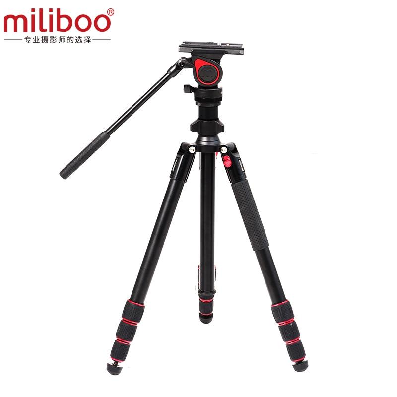 miliboo Promotion lightweight Travel Mini Portable Camera Aluminum Carbon Tripod Stand with Fluid Head