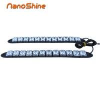 2X Flexible DRL LED Daytime Running Lights Strip HighPower 12V Car LED Car Auto Decorative 12V