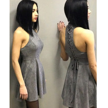 Summer Fashion Dresses Style Sexy Bandage Bodycon Backless Dresses Women A-Line Solid Sleeveless Hollow Out Halter Party Dresses