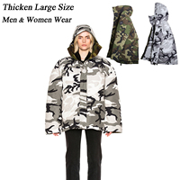 Men Goose Down Jacket hooded goose down coat for men and women lovers thicken light outwear Camouflage Loose grey goose Doudoune